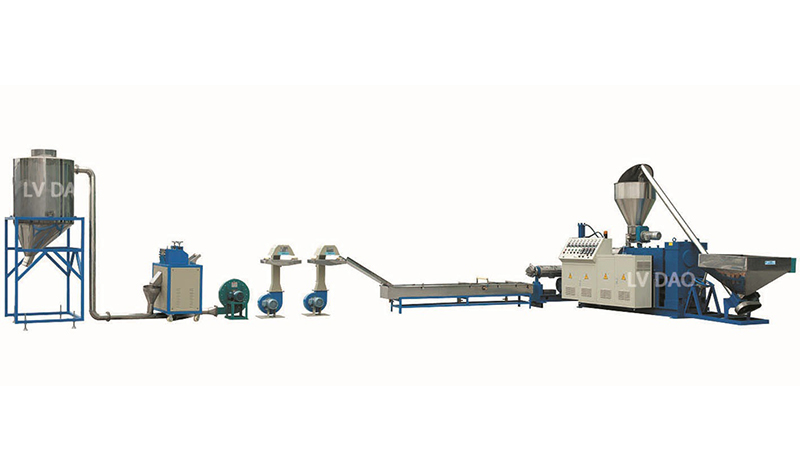 Conical Twin Screw Extruder Pelletizing Line